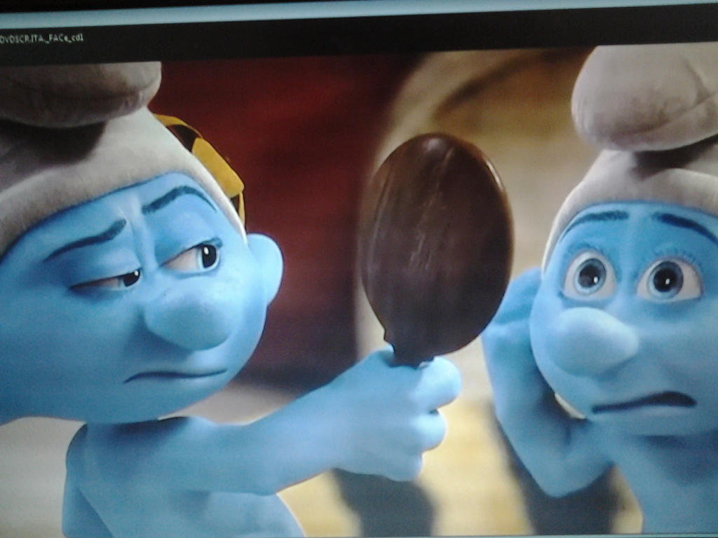 the smurf 2 screenshot vanity and grouchy smurf by