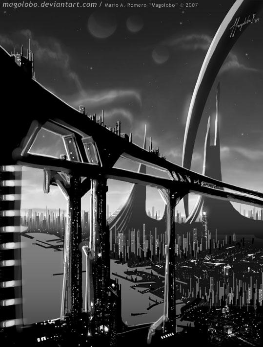 Futuristic City by Magolobo