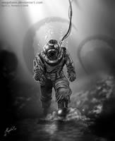 Sombras en el profundo mar by Magolobo