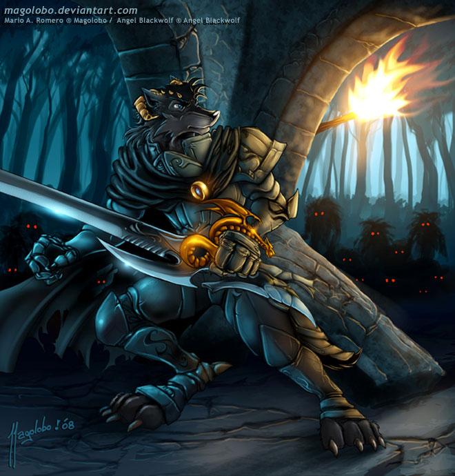 Black wolf furry - photo#14