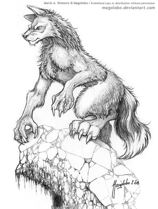 werewolf watching by magolobo on deviantart