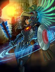 CyberPunk AztechGirl by Magolobo