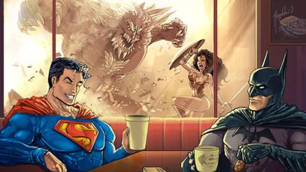 Super Cafe: Batman v Superman by Magolobo