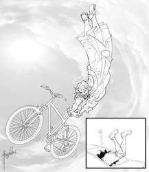 El ciclista San Judas by Magolobo