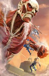 Colosal Titan vs Luchadores