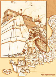 Un curioso Quetzalcoatl... by Magolobo