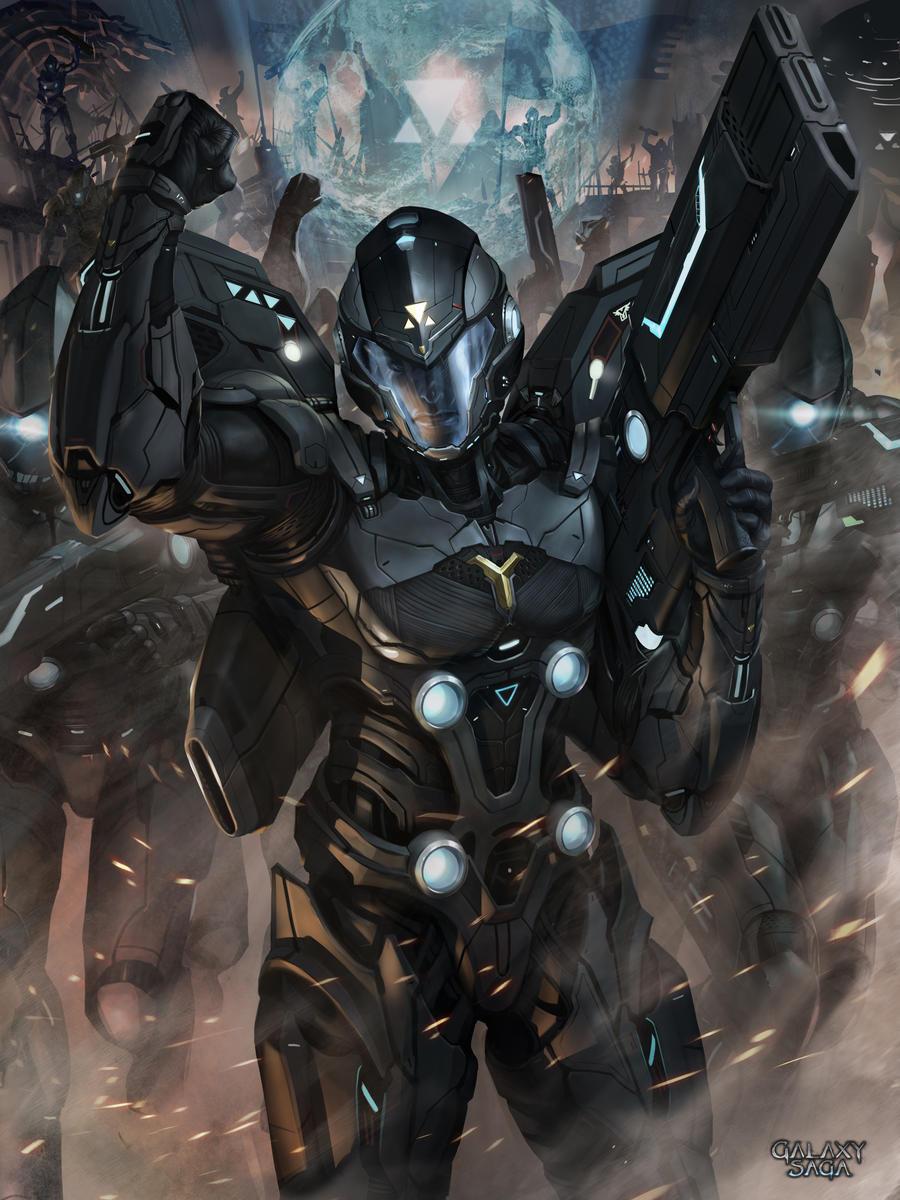 Applibot_Galaxy Saga_Commander_Evolve by chrisnfy85