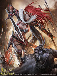 The lone woman warrior_Advance by chrisnfy85