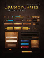 Ui Kit Grungy Games by Skiiks