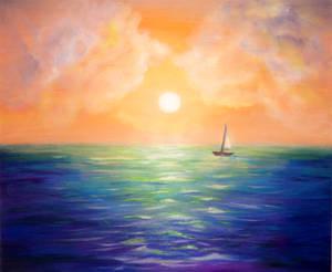 Sailing away before sunset
