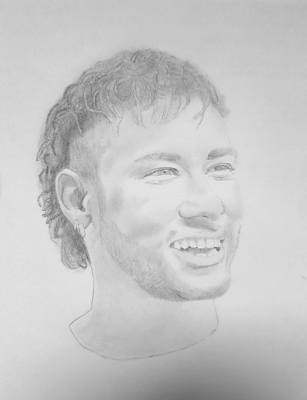 Neymar jr pencil drawing by stemito on deviantart