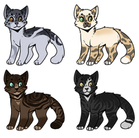 Set Price Cat Adopts Closed! by Greatdane45