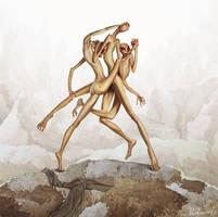 Dancing blockheads by kharlamov