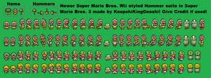 Newer Super Mario Bros. Wii SMB3 Hammer Suit Sheet