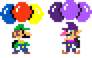 Luigi and Waluigi's Balloon Fight! by KoopshiKingGeoshi
