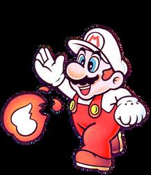 Fire Mario SML2: DX Artwork