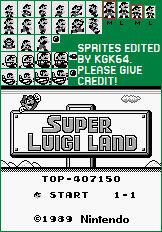 Super Mario Land: Luigi Sprites