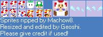 Captain Toad 8-bit Sprites