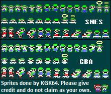 SMW Real Luigi Overworld Sprites