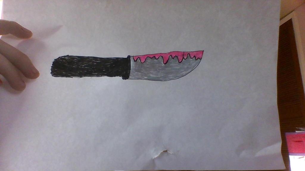 pastel goth knife by sylveonrhi