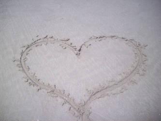 Sand heart by Kalosys-stock