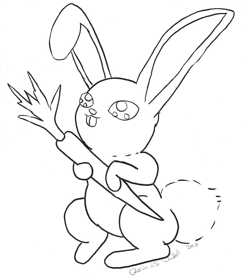 anime bunny coloring pages - photo#17