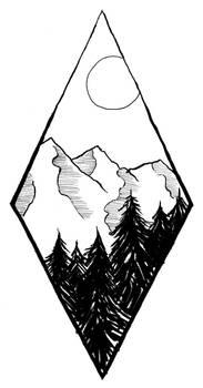 Geometric Landscape (lineart)