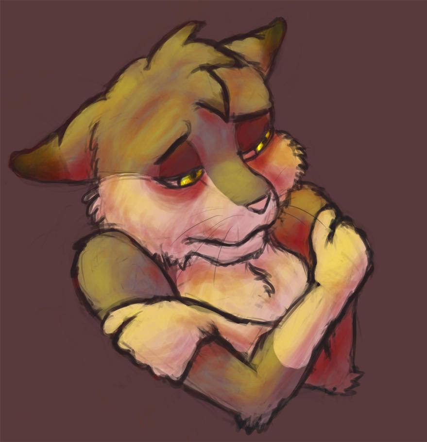 Sad Kitty by AerialReavers