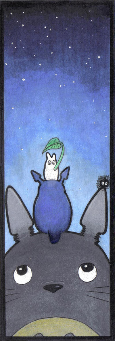 bookmark Totoro by oO-VampArt-Oo