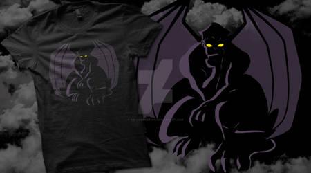 Gargoyle T-Shirt by oO-VampArt-Oo