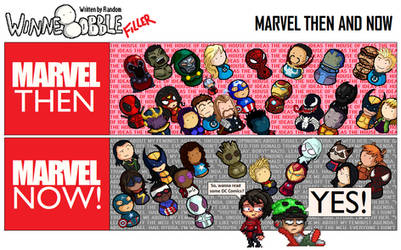 961 - MARVEL then and now by RandomDC3