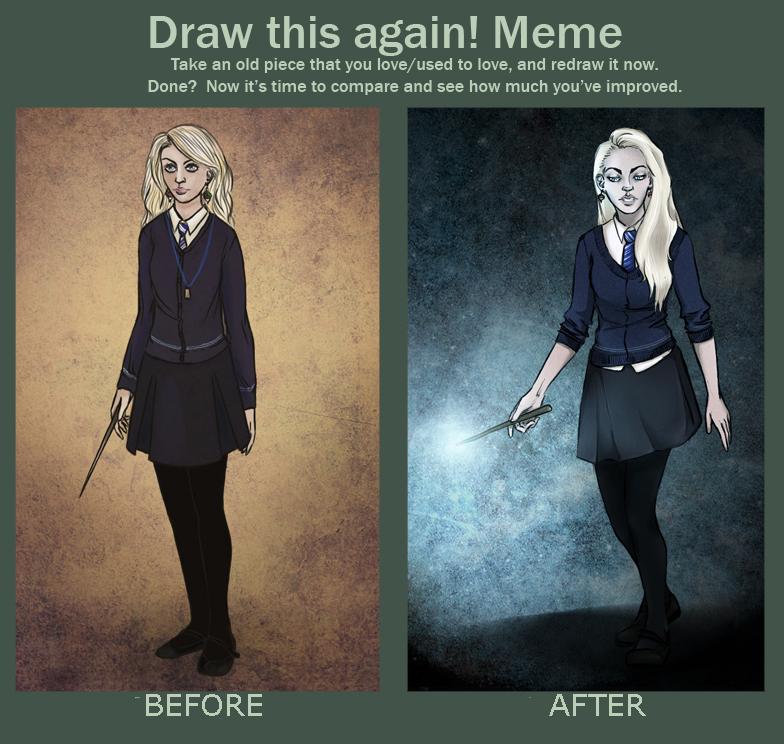 draw this again meme luna lovegood by ula387 by ula387