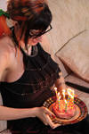 Birthday bacon cake