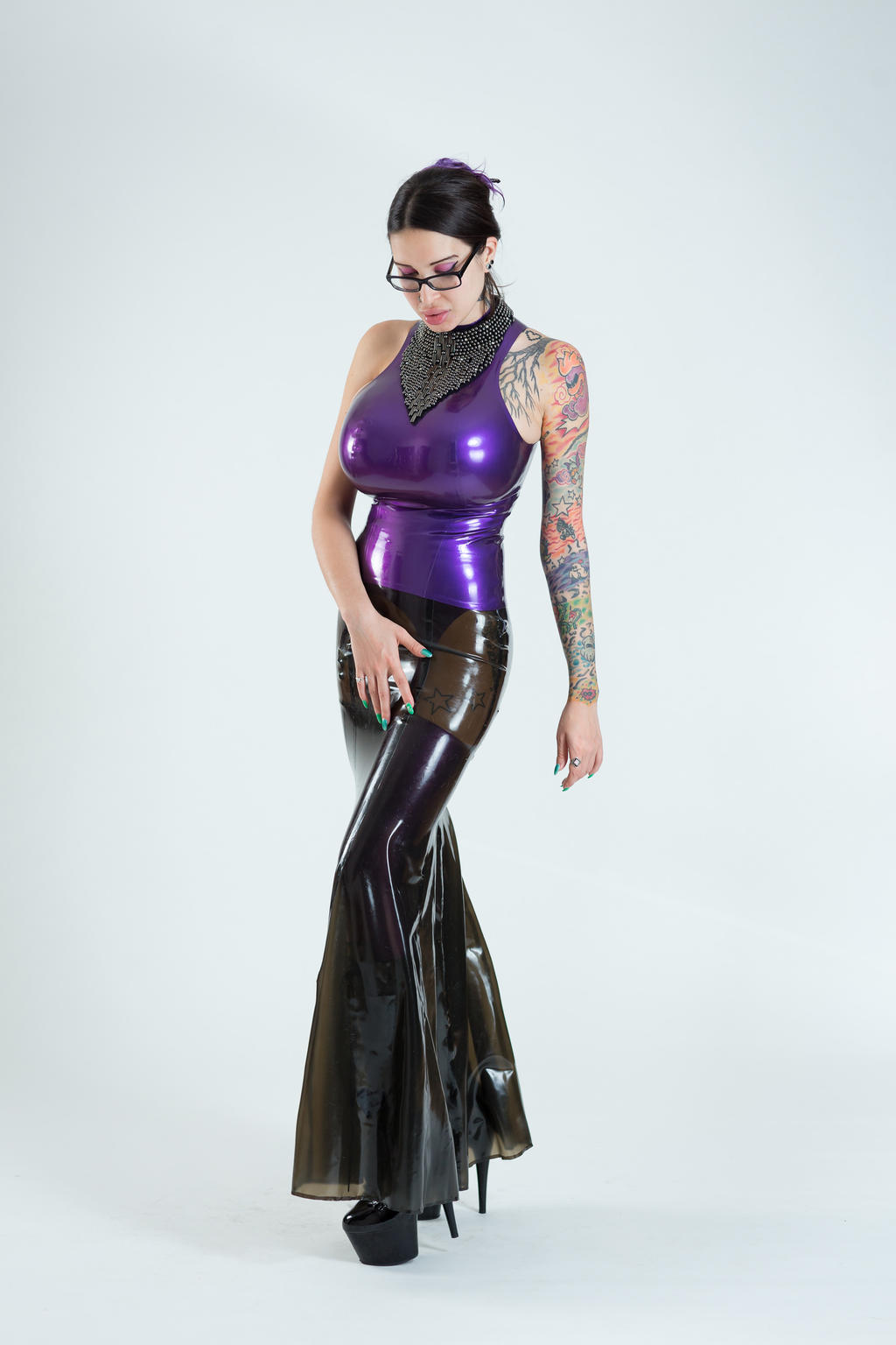 Ariane st amour and amy anderssen in latex 10