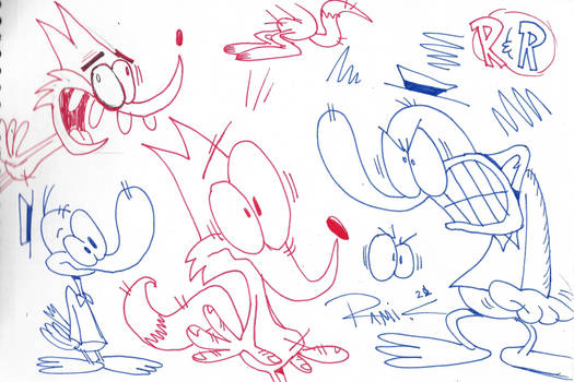 Red And Blue sketches #1