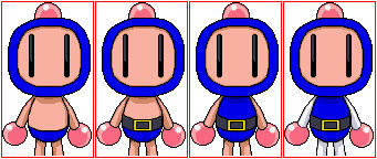 Blue Bomberman Gets Dressed