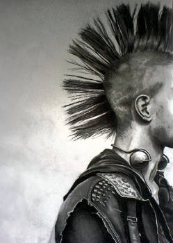 Punk- huge pencil drawing