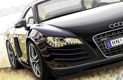 Audi R8 in MS Paint by Louisa911