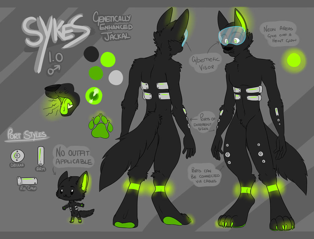 Cyber Sykes - commission by THEsquiddybum
