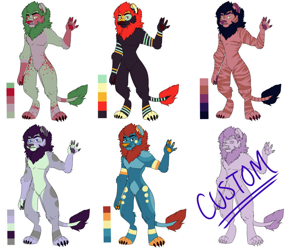Full Adoptables by THEsquiddybum
