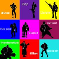 Team Fortress 2 iPod Pop Art by cdewey17