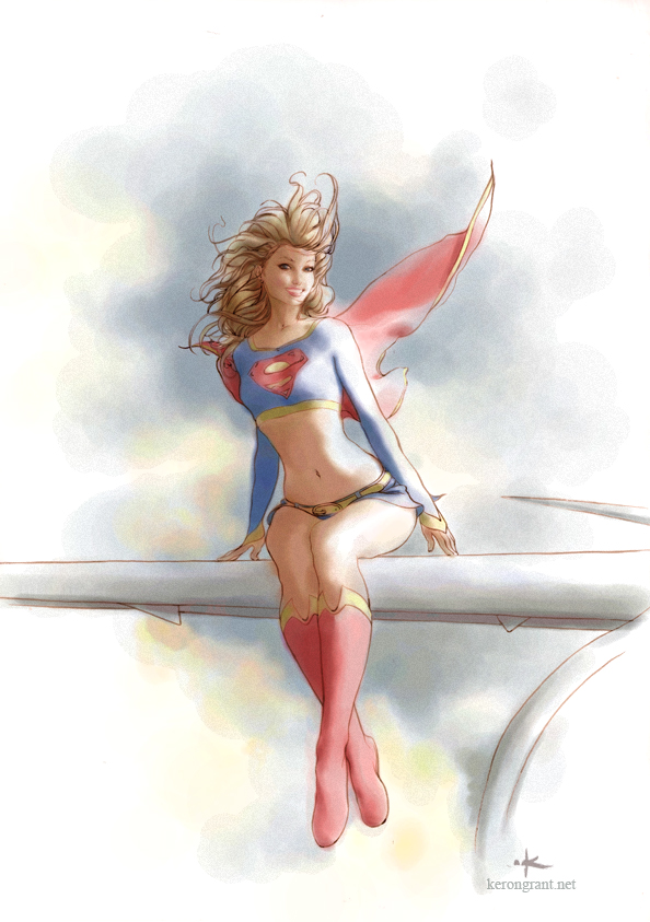 Supergirl Commission colors by Kerong