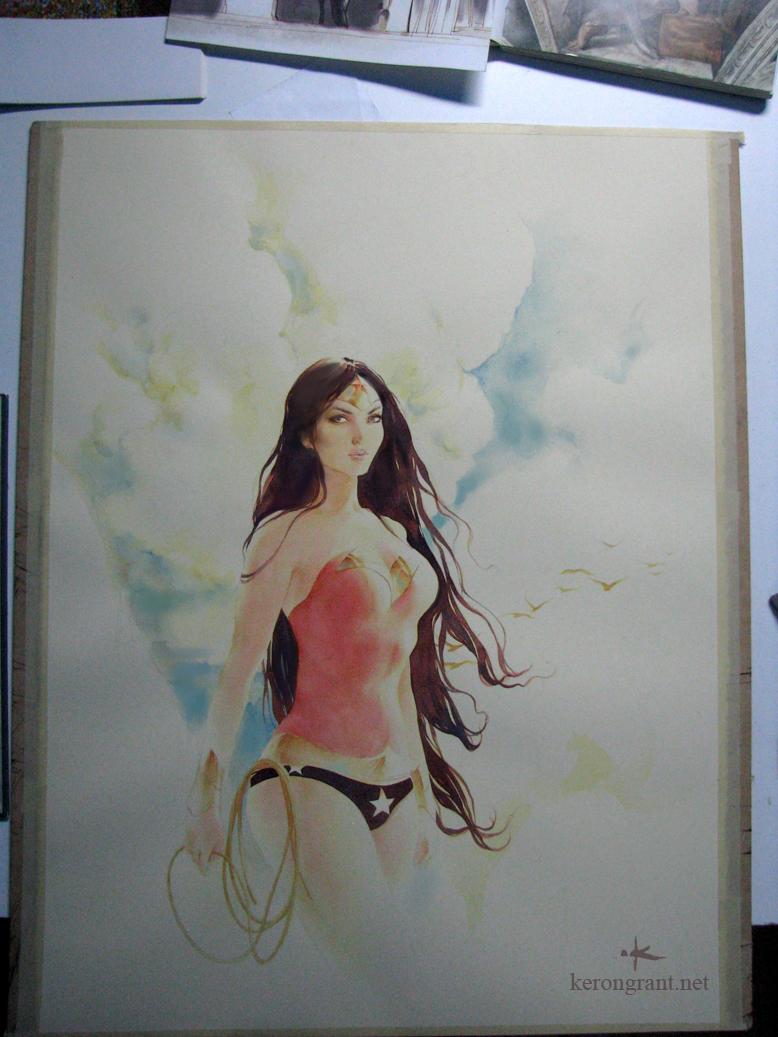 Wonder Woman watercolor by Kerong