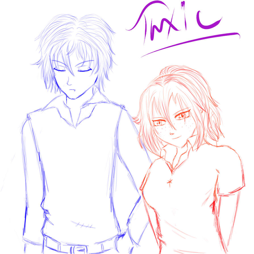Arin and Zane sketch by ToxicStudios