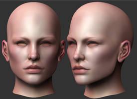 Female Head Sculpt