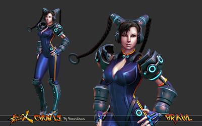 Cyber Chun Li Beauty Shot 1 by HazardousArts