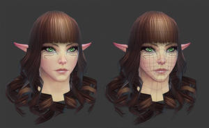 Rift: High Elf Female Head