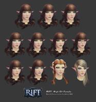 Rift: High Elf Female Head Customisation by HazardousArts