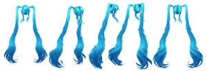 Hatsune Miku: Hair WIP 1