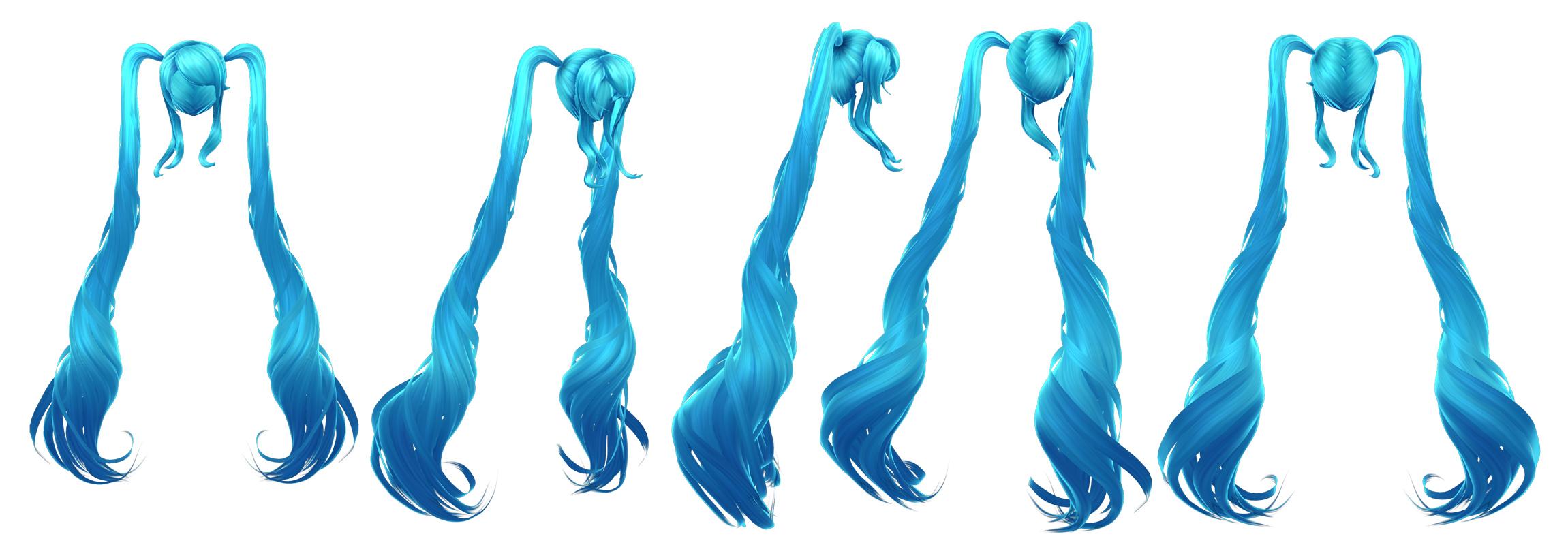 Hatsune Miku Hair Wip 1 By Hazardousarts On Deviantart